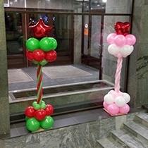 Стойки из воздушных шаров на свадьбу и другие праздники
