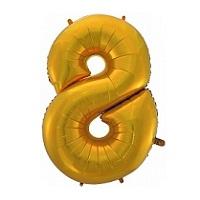 Купить фольгированную цифру в подарок для малыша восемь в интернет-магазине Шары-и-Шарики.ру