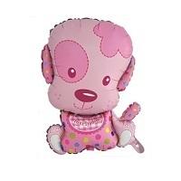 """Купить фольгированный шар на день рождение """"Маленький щенок девочка 71 см""""в интернет-магазине Шары-и-Шарики.ру"""