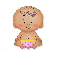 """Купить фольгированный шар на выписку """"Малыш девочка 81 см"""" в интернет-магазине Шары-и-Шарики.ру"""