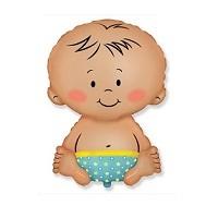 """Купить фольгированный шар на выписку из роддома """"Малыш мальчик 81 см"""" в интернет-магазине Шары-и-Шарики.ру"""