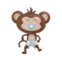 """Купить фольгированный шар в подарок на выписку """"Обезьянка мальчик 104 см"""" в интернет-магазине Шары-и-Шарики.ру"""
