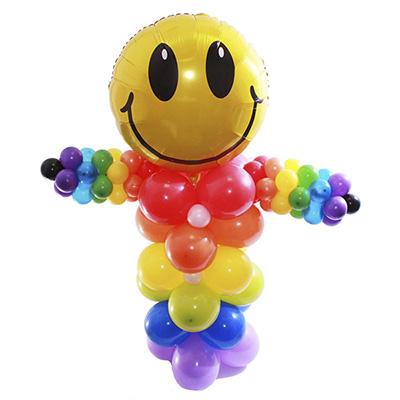 Разноцветный клоун-смайлик