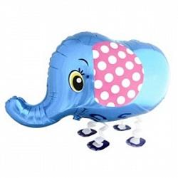 """Купить воздушный шарик ко дню рожденья """"Слоник синий"""" в интернет-магазине Шары-и-Шарики.ру"""