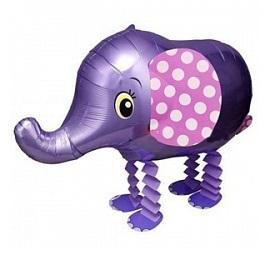 """Купить ходячий шарик на детский праздник """"Слоник фиолетовый"""" в интернет-магазине Шары-и-Шарики.ру"""