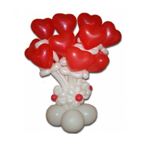 Букет сердечки из шаров