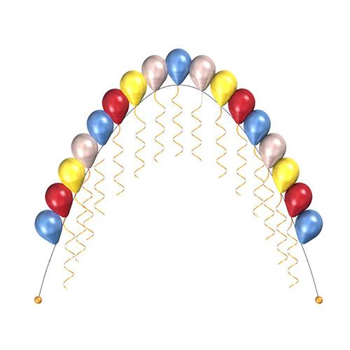 Четырехцветная цепочка из шаров