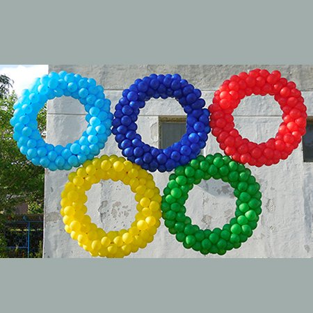 Олимпийские кольца из шаров