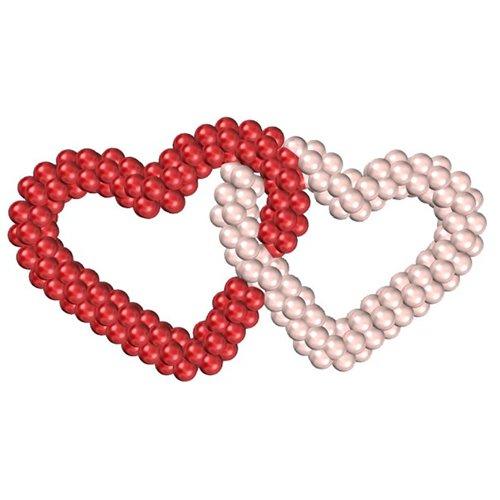 Переплетенные сердца из шаров
