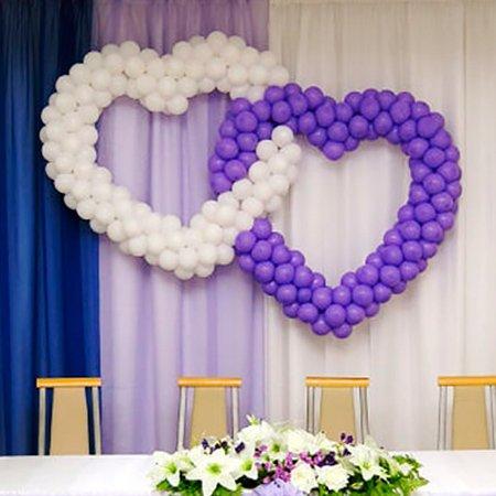 Сердца из шариков на свадьбу
