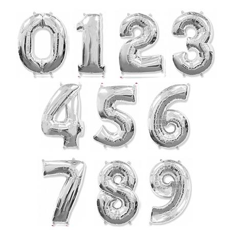 Серебряные шары цифры