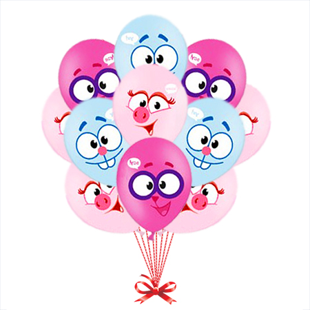 Шарики - Смешарики на детский праздник