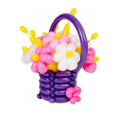 Корзинка с цветами из ШДМ