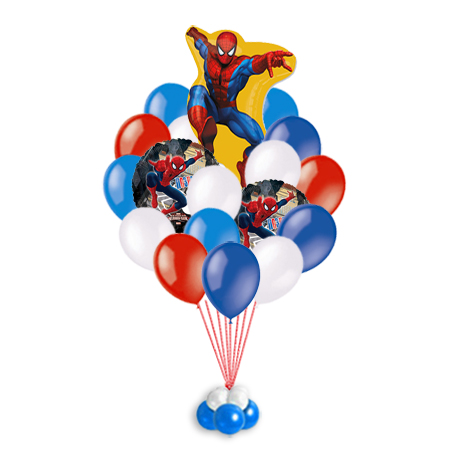 Связка Spider Man - шарики на детский праздник