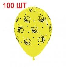 100 шариков с пчёлками