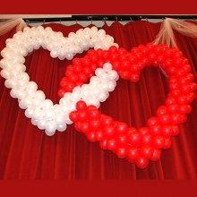 2 сердца из шаров на свадьбу
