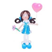 Композиция из шаров «Девочка с цветочком»