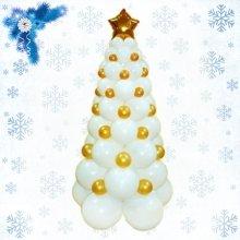 Бело - золотая ёлка