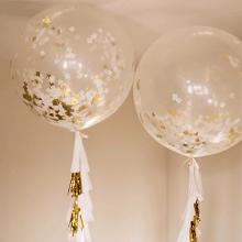 Большие прозрачные шары с конфетти