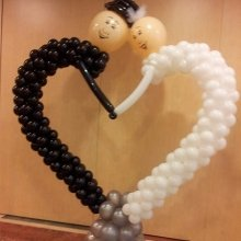 Фигура сердце из шаров «Жених и невеста»