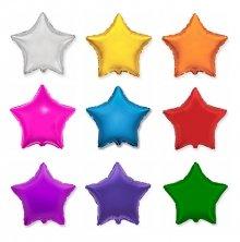 Разноцветная фольгированная звезда