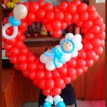Композиция из шаров «Сердце»