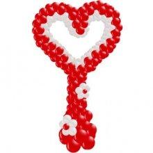 Красно-белое Сердце на стойке