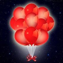 Красные шары светодиодные