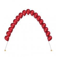 Одноцветная цепочка из гелиевых шаров