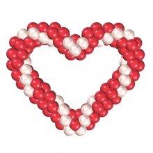 Плетеное сердце из шариков