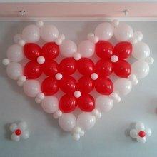 Сердце из шариков линколун