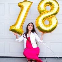 Шарики цифры 18 лет