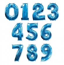 Синие цифры из шаров
