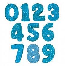 Синие цифры со звёздами