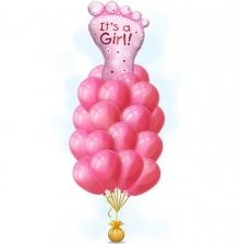 Ступня девочки розовая – на выписку шары