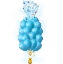 Ступня мальчика голубая – на выписку шары