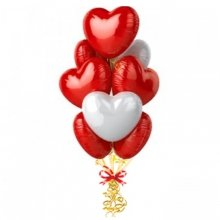 Связка «Фольгированные сердечки»