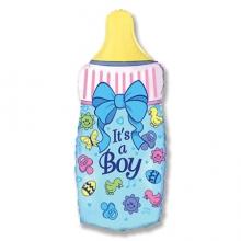 Воздушный шар бутылка синего цвета