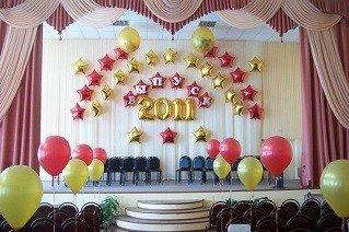 Как украсить шарами на выпускной
